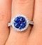 0.84ct Diamond 1.60ct Sapphire and 18K White Gold Circles Ring - image 4