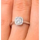 0.25ct Diamond Engagement Ring 18K White Gold Galileo FT65 - image 4