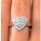 1.20ct Diamond and 18K White Gold Galileo Ring FT70 - image 4