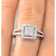 Halo Engagement Ring Galileo 0.50ct of Diamonds in 18K Gold - FT75 - image 4