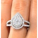 Halo Engagement Ring Galileo with 1ct of Diamonds in 18KW Gold - FT77 - image 4