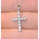 Diamond Cross Necklace 0.46ct in 9K White Gold - image 2