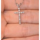 Cross Pendant 0.12CT Diamond 9K White Gold - image 2