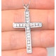 Cross Pendant 1.00CT Diamond 9K White Gold - image 2