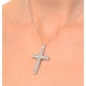 Cross Pendant 1.00CT Diamond 9K White Gold - image 3