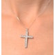 Cross Pendant 1.00CT Diamond 9K White Gold - image 4