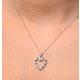 9K White Gold Diamond and Sapphire Pendant 0.03ct - image 2