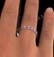 Eternity Ring Lauren Diamonds H/SI and Ruby 1.10CT - 18K White Gold - image 4