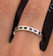Eternity Ring Lauren Diamonds H/SI and Sapphire 1.20CT in 18K Gold - image 4