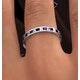 Eternity Ring Lauren Diamonds H/SI and Sapphire 1.20CT -18K White Gold - image 4