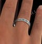 Eternity Ring Lauren Diamonds H/SI and Emerald 2.20CT - 18K White Gold - image 4