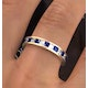 Eternity Ring Lauren Diamonds H/SI and Sapphire 2.30CT in 18K Gold - image 4