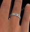 ETERNITY RING RAE DIAMONDS H/SI AND EMERALD 1.70CT - 18K WHITE GOLD - image 4