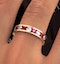 ETERNITY RING RAE DIAMONDS H/SI AND RUBY 1.80CT - 18K GOLD - image 4