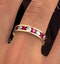 ETERNITY RING RAE DIAMONDS G/VS AND RUBY 1.80CT - 18K GOLD - image 4
