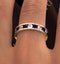 ETERNITY RING RAE DIAMONDS H/SI AND SAPPHIRE 1.90CT - 18K GOLD - image 4