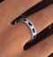 ETERNITY RING RAE DIAMONDS H/SI AND SAPPHIRE 1.90CT - Platinum - image 4