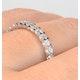 Eternity Ring Chloe Platinum Diamond 1.00ct H/Si - image 4