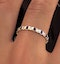 Hannah 18K Gold Sapphire 0.70ct and H/SI 1CT Diamond Eternity Ring - image 3