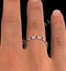 Ruby 1.50ct And G/VS Diamond Platinum Eternity Ring - image 4