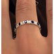 Hannah 18K Gold Sapphire 0.70ct and H/SI 2CT Diamond Eternity Ring - image 3