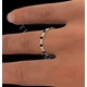 Hannah 18K Gold Sapphire 0.70ct and H/SI 2CT Diamond Eternity Ring - image 4