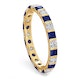 Olivia 18K Gold Sapphire 1.30ct and H/SI 1CT Diamond Eternity Ring - image 2