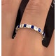 Olivia 18K Gold Sapphire 1.30ct and H/SI 1CT Diamond Eternity Ring - image 3