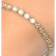 Diamond Tennis Bracelet Rubover Style 3.00ct 9K Yellow Gold - image 3