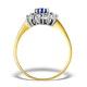 Tanzanite 6 x 4mm And Diamond 18K Gold Ring  FET34-V - image 2