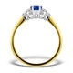 Sapphire 7 x 5mm And Diamond 18K Gold Ring - image 2