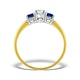Diamond 0.33ct And Sapphire 18K Gold Ring - image 2