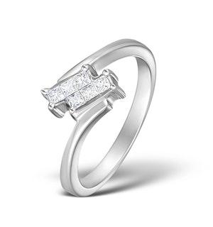 H/SI Diamond 0.23ct 18K White Gold Ring - RTC-N3072