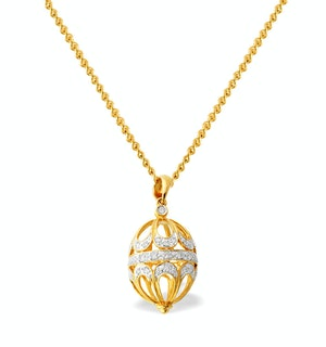 Diamond 0.22ct and 9K Gold Small Egg Pendant - RTC-G3049