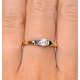 Diamond 0.25ct And Sapphire 18K Gold Ring - image 4