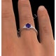 Tanzanite 7 x 5mm And Diamond 18K White Gold Ring  N3493Y - image 3