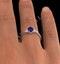 Tanzanite 7 x 5mm And Diamond 18K White Gold Ring  N3493Y - image 3
