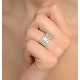 Diamond 1.00CT 18K White Gold Cross-Over Ring - image 4