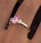 18K Gold Diamond Pink Sapphire Ring 0.20ct - image 4