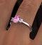 18K White Gold Diamond Pink Sapphire 0.85ct Ring - image 4