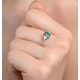 Emerald 0.75ct And Diamond 18K White Gold Ring - image 4