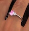18K White Gold 0.85ct Pink Sapphire and 0.12ct Diamond Ring - image 4