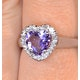 Amethyst 1.03ct And Diamond 18K White Gold Ring - image 2