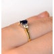 Sapphire 6 x 4mm And Diamond 18K Gold Ring  N4312 - image 4