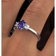 Tanzanite 7 x 5mm And Diamond 18K White Gold Ring  N4317Y - image 4