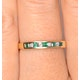 Emerald 0.15ct And Diamond 18K Gold Ring - image 2