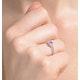 Tanzanite 0.35ct And Diamond 18K White Gold Ring - image 2