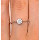 Galileo 0.50ct Look Diamond 0.17ct And 18K White Gold Ring - image 3