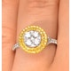 Halo Engagement Ring Arianna with 1ct of Yellow Diamonds in 18KW Gold - image 4