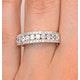Diamond 1.00ct And 18K Gold Half Eternity Ring - N4495 - image 4